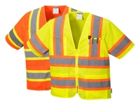 portwest us383group hi vis short sleeve safety vest