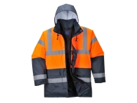 portwest us467orn hi vis two tone traffic jacket