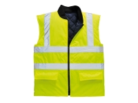 portwest us469yl hi vis reversible thermal gilet