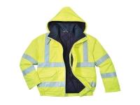 portwest us773 hi vis fire resistant bomber jacket