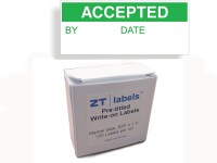 ziptape quality control label dispenser accepted labels
