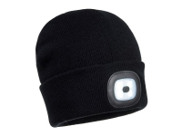 PORTWEST Rechargeable Twin LED Beanie - OS - Black