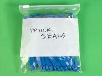 Pack Kontrol Slide Seal Reclosable White Block Poly Bags - 3 Mil - 4