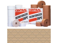 Centralᅠ235 Reinforced Water Activated Tape - 72mm x 375' - Kraft - 8 Rolls/Case