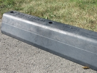 rubberform rubber engineered traffic curb in use