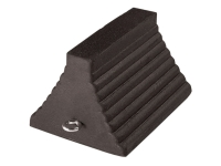 Roadblock RC450-S Rubber Wheel Chock with Solid Bottom 10 Length x 8 Width x 5.5 Height Black