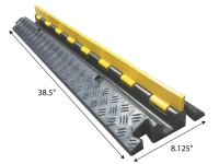 1 channel heavy duty rubber cable protector