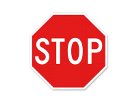 Rubberform aluminum stop sign