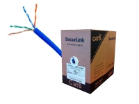 Blue SecurLink cat6 cable, 1000 foot spool