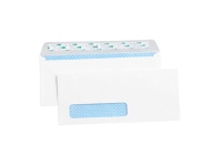 Pack Kontrol Plain Self-Seal Business Envelopes with Security Tint - 4ᅠ1/8