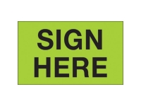 Sign Here Green