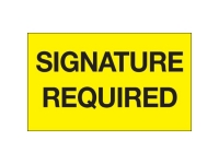 Signature Required Yellow