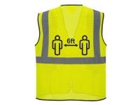 PORTWEST Social Distance Hi Vis Safety Vest - S - Yellow