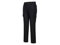 PORTWEST Stretch Slim Combat Pants - 28 - Black