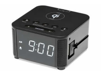 Kube clock Qi wireless charging version alarm clock, Ta-9203-bk-us