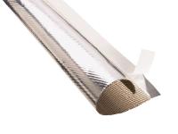 Adhesive fastening thermashield tubing