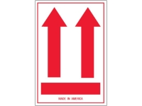 This Side Up Arrow Red 832
