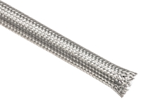 Tinned copper braided sleeving, silver
