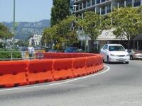 traffic kontrol jersey barrier water fill plastic control