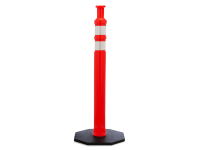 Knob top Traffic Post Delineator, Orange, 42