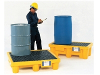 Spill pallet used for chemical shipping