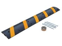 Vestil Rubber Speed Bump Asphalt Hardware