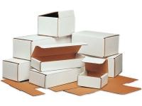 white cardboard mailer boxes corrugated