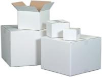 white shipping boxes