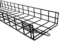 black powder coated cm series cable tray
