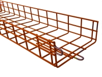 orange powder coated cm series cable tray
