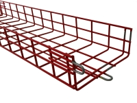 red powder coated cm series cable tray