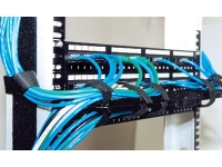 Zero-U spacemaker horizontal cable manager in use