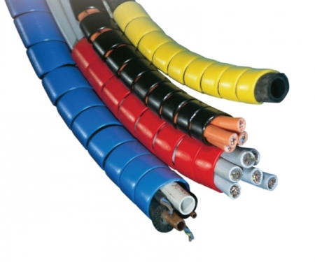 Red Spiral wrap Designed to to fit 5//8 Hydraulic Hose Size Hose Range 0.62-1.06 66 Length
