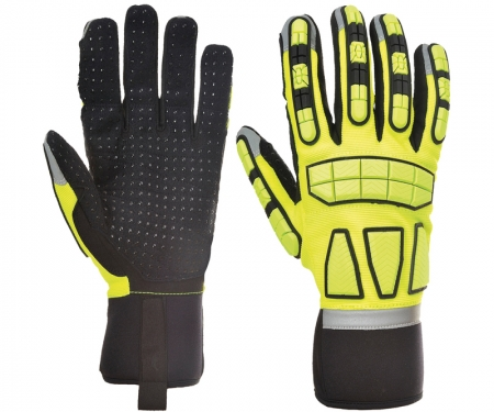 Large A721 Portwest Anti Impact Grip Glove Ressistant Safety Work Protection Maximum Abrasion ANSI 105