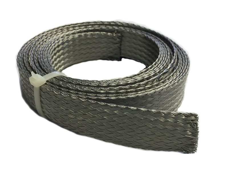 length 50 ft USA MADE Stainless Steel FLAT Braid Sleeving 304-3//8/""