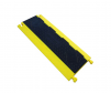 2 Channel low profile cable protector, bumblebee, yellow base and black lid.