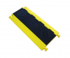 3 Channel bumblebee cable protector, low profile with yellow base and black lid.